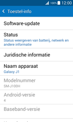 Samsung J100H Galaxy J1 - Software update - update installeren zonder PC - Stap 5