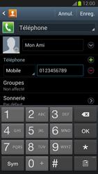 Samsung Galaxy Note 2 - Contact, Appels, SMS/MMS - Ajouter un contact - Étape 8