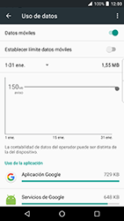 BlackBerry DTEK 50 - Internet - Ver uso de datos - Paso 8