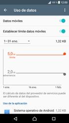 Sony Xperia E5 (F3313) - Internet - Ver uso de datos - Paso 10