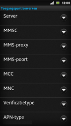 Sony ST25i Xperia U - Mms - Handmatig instellen - Stap 11