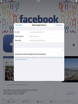 Apple iPad Pro 10.5 inch met iOS 11 (Model A1709) - Applicaties - Account aanmaken - Stap 7