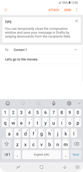 Samsung Galaxy S9 Plus - Email - Sending an email message - Step 10