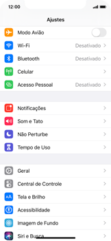 Apple iPhone X - iOS 13 - Primeiros passos - Como encontrar o número de IMEI do seu aparelho - Etapa 3