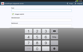 Samsung P5220 Galaxy Tab 3 10-1 LTE - E-mail - e-mail instellen: IMAP (aanbevolen) - Stap 14