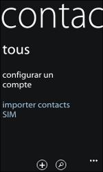 Nokia Lumia 800 - Contact, Appels, SMS/MMS - Ajouter un contact - Étape 4