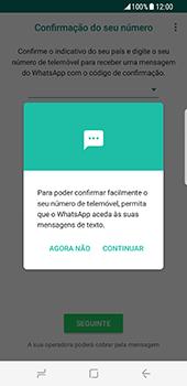 Samsung Galaxy S8 - Aplicações - Como configurar o WhatsApp -  11