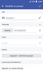 HTC U Play - Contact, Appels, SMS/MMS - Ajouter un contact - Étape 10