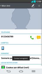 LG G2 - Contact, Appels, SMS/MMS - Ajouter un contact - Étape 7