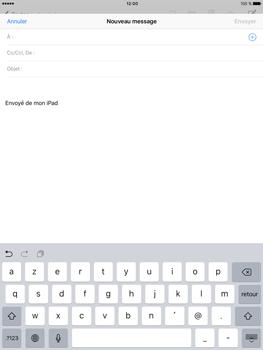 Apple iPad Pro (9.7) - E-mail - envoyer un e-mail - Étape 3