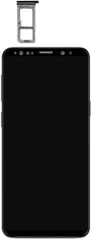 Samsung Galaxy S9 - Premiers pas - Insérer la carte SIM - Étape 3