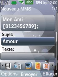 Nokia 7210 supernova - MMS - Envoi d