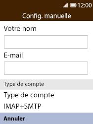 Nokia 8110 Banana - E-mail - Configuration manuelle - Étape 7