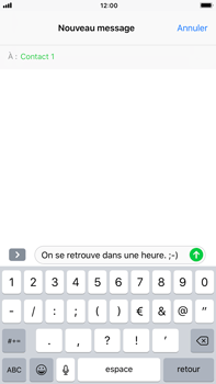 Apple iPhone 8 Plus - Contact, Appels, SMS/MMS - Envoyer un SMS - Étape 8