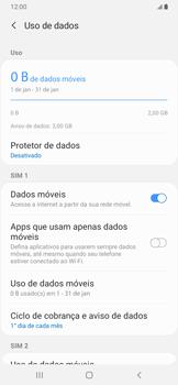 Samsung Galaxy A20 - Rede móvel - Como definir um aviso e limite de uso de dados - Etapa 6