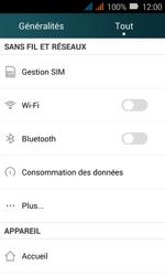 Huawei Y3 - Wi-Fi - Accéder au réseau Wi-Fi - Étape 3
