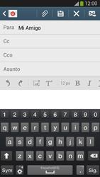 Samsung Galaxy S4 - E-mail - Escribir y enviar un correo electrónico - Paso 8