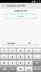Huawei G620s - Segurança - Como ativar o código de bloqueio do ecrã -  9