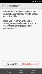 Huawei Ascend P7 - Device maintenance - Retour aux réglages usine - Étape 8