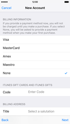 Apple iPhone 6 iOS 9 - Applications - Create an account - Step 18