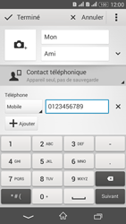 Sony Xperia E4g - Contact, Appels, SMS/MMS - Ajouter un contact - Étape 8