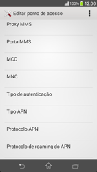 Sony C5303 Xperia SP - Internet (APN) - Como configurar a internet do seu aparelho (APN Nextel) - Etapa 12
