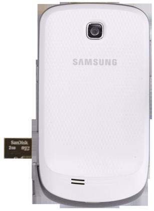 Samsung S5570 Galaxy Mini - Primeros pasos - Quitar y colocar la batería - Paso 6