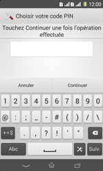 Sony Xpéria E1 Dual - Sécuriser votre mobile - Activer le code de verrouillage - Étape 8