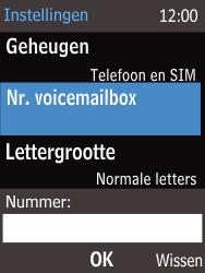 Nokia 220 - Voicemail - Handmatig instellen - Stap 8