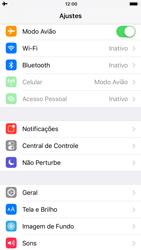 Apple iPhone 8 - Rede móvel - Como ativar e desativar o modo avião no seu aparelho - Etapa 4