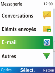 Nokia X2-00 - E-mail - Envoi d