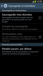 Samsung Galaxy S4 - Aller plus loin - Restaurer les paramètres d'usines - Étape 6