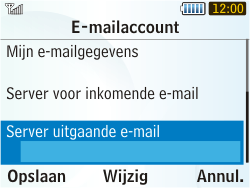 Samsung S3350 Chat 335 - E-mail - Handmatig instellen - Stap 17