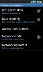 Samsung I9000 Galaxy S - Network - Usage across the border - Step 6