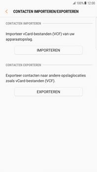 Samsung Galaxy S6 edge+ - Android Nougat - Contacten en data - Contacten kopiëren van toestel naar SIM - Stap 12