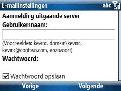 Samsung C6620 - E-mail - handmatig instellen - Stap 14