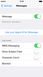 Apple iPhone 5 iOS 7 - Mms - Manual configuration - Step 12