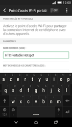 HTC Desire 816 - Internet et connexion - Partager votre connexion en Wi-Fi - Étape 8