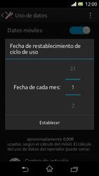 Sony Xperia L - Internet - Ver uso de datos - Paso 7