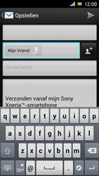 Sony ST26i Xperia J - E-mail - e-mail versturen - Stap 6