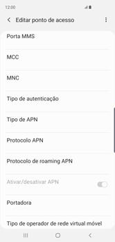 Samsung Galaxy S10 - Internet (APN) - Como configurar a internet do seu aparelho (APN Nextel) - Etapa 12