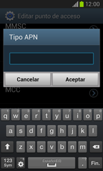 Samsung i8260 Galaxy Core - Mensajería - Configurar el equipo para mensajes multimedia - Paso 14