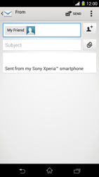 Sony C6903 Xperia Z1 - E-mail - Sending emails - Step 8