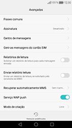 Huawei Honor 8 - SMS - Como configurar o centro de mensagens -  7