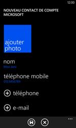 Nokia Lumia 625 - Contact, Appels, SMS/MMS - Ajouter un contact - Étape 9