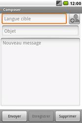 LG GW620 - E-mail - envoyer un e-mail - Étape 4