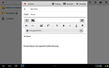 Samsung P5100 Galaxy Tab 2 10-1 - E-mail - Envoi d