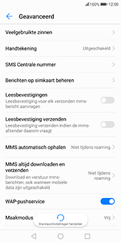 Huawei Mate 10 Lite (Model RNE-L21) - SMS - Handmatig instellen - Stap 8