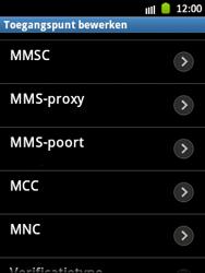 Samsung S5300 Galaxy Pocket - Mms - Handmatig instellen - Stap 10