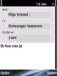 Nokia E75 - E-mail - Hoe te versturen - Stap 8